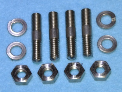 002a) BSA  A  and B Series Sump Plate Stainless Studs Long - 002BAL W1-18