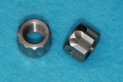 25) 3/8 Cycle 26 tpi 12 Point Nut Stainless 21-0692-cyl - Q14