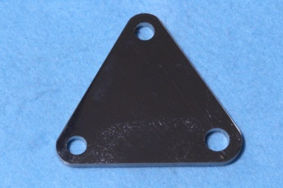 Laverda Engine Plate (Front) (Stainless) 21124082 - D21