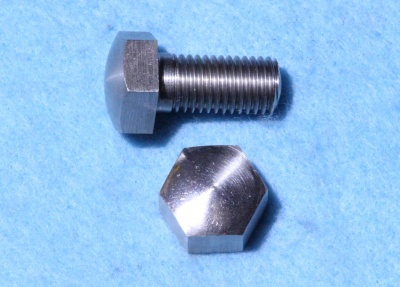 01) 3/8 BSF Hex Bolt x 3/4'' Domed Stainless Steel HB38034D