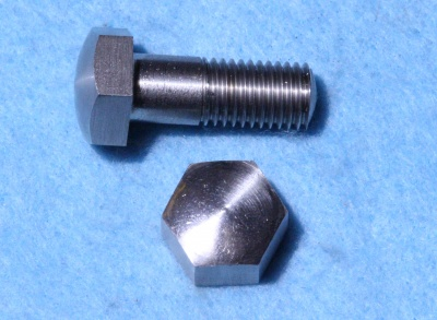 02) 3/8 BSF Stainless Steel Hex Bolt Domed x 1'' HB38100D