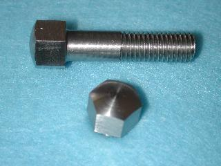 03) 5/16 Bolt Domed 0.445''A/F Stainless Steel BSF x 1'' HB516100DS