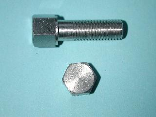 03) 5/16 Stainless Steel BSF x 1'' 0.445'' A/F Bolt HB516100S