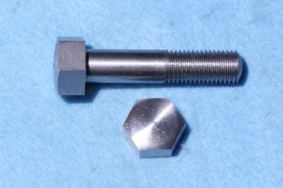 04) 7/16 Stainless Steel Hex Domed BSF Bolt X 1-3/4'' HB716134D