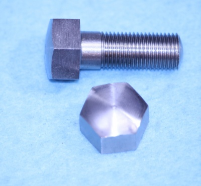 02) 3/8 Cycle Stainless Steel X 1'' Domed Bolt HC38100D - U08