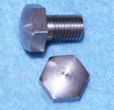 01) 5/16 Cycle X 1/2''  Bolt Domed Stainless Steel HC516012D