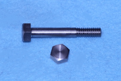 07) 1/4 Steel Hex Whitworth x 1-3/4'' Stainless Bolt HW14134