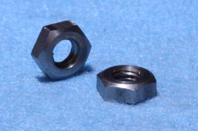 02) 1/4'' Cycle Lock Nut Single Chamfer 26tpi  Stainless NCL14026