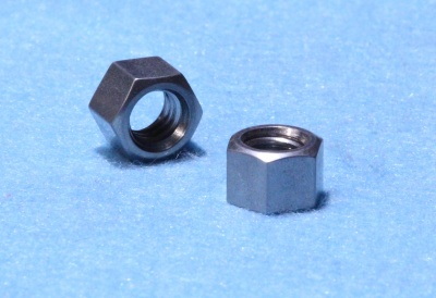 12) 5/16 Whitworth Nut Stainless Deep 0.445 NWF51618S - L22