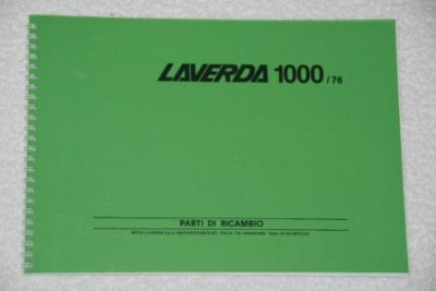 Laverda 3C Post 76 Parts Manual - P1000-76