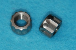 26) Triumph 21-0692 3/8 Cycle 12 Point Nut Stainless 24tpi Q14 - 21-0692-cycle