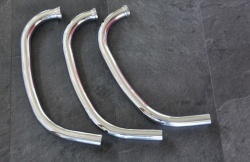 Laverda Exhaust Pipes (Stainless) 63101042-set x 3 all 180's + 120 Jota