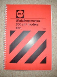 1) BSA 650cm Models 1971 Workshop Manual - BSA650