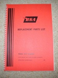 2) BSA B25 Starfire Parts Catalogue - BSAB25