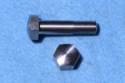 04) 3/8 Domed Bolt x 1-1/2'' Stainless Hex Steel BSF HB38112D