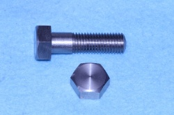 03) 3/8 BSF x 1-1/4'' Bolt Stainless Steel Hex HB38114