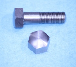 03) 3/8 Cycle (CEI) Bolt Stainless Steel Domed X 1-1/4'' - HC38114D - U14