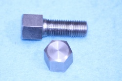02) 5/16 Cycle 0.445'' A/F X 3/4'' Stainless Steel Bolt HC516034S