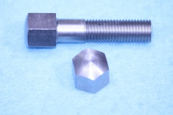 05) 5/16 Stainless Steel Domed Cycle Bolt X 1-1/2'' 0.445'' A/F Stainless Domed HC516112DS