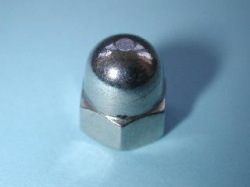 03) 1/4 UNF Domed Nut Stainless 28 tpi - NUFD14028 - S28