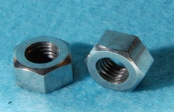 01) 1/4 UNF Nut Stainless Single Chamfer 28tpi NUFF14028 - S25