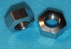 21) 3/8 UNF Single Chamfer Radiused Top Nut 24 tpi Stainless NUFF38024R S39