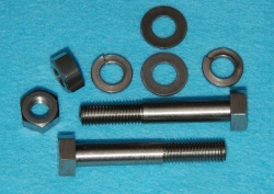 0110 Velocette Fork Pinch Bolts Nuts+Wash x 2 Stainless V0011